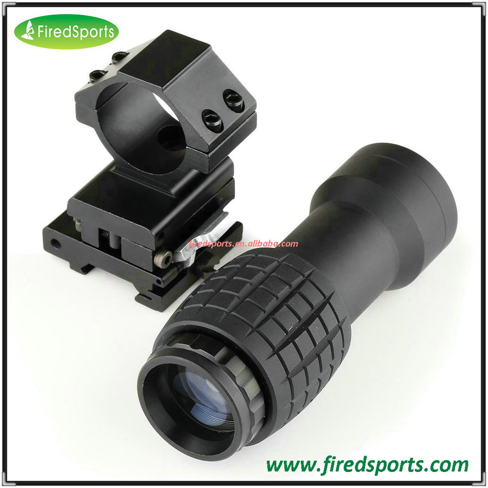 GSP0312--Hot Sell High Quality Tactical Airsoft 3X Magnifier Scope Sight with Flip To Side 20mm Rail Mount