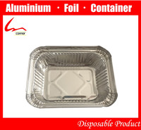 Yiwu 250ml Small Size Recyclable Rectangular Food Packing Household Aluminum Foil Container With Lid