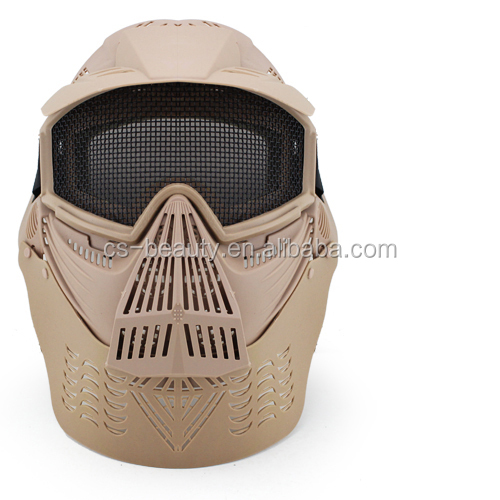 OEM Nect Protective Full Face Airsoft Wargame Combat Paintball Mask with Mesh Goggles