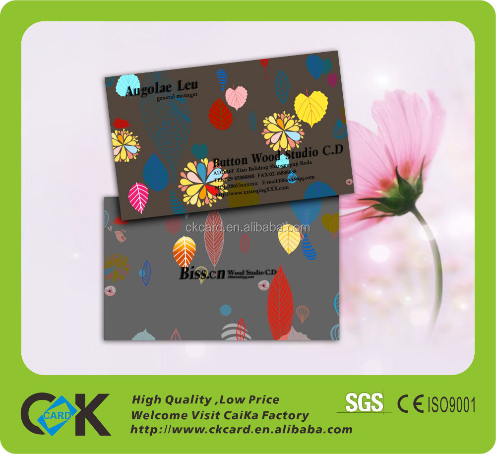 Custom CMYK printing credit card size embossing business card with cheap price