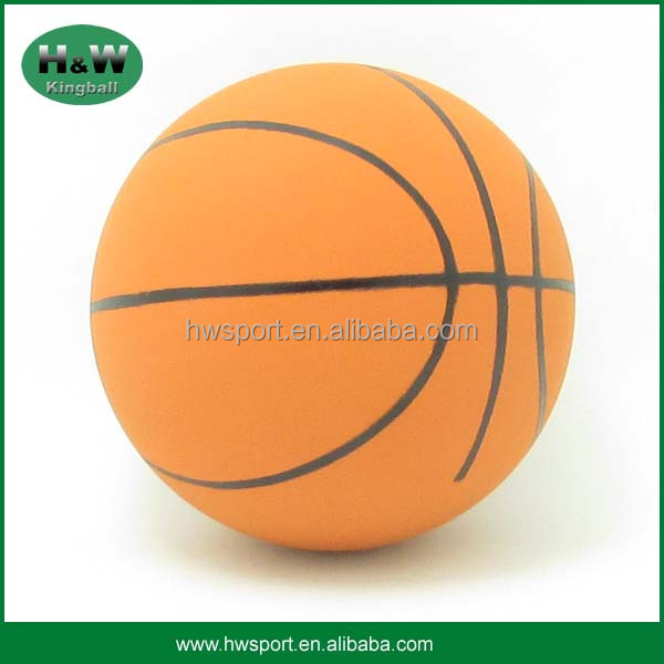 High Quality Natural Rubber Hollow Bouncy Basketball Ball 60mm