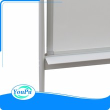 Sliding magnetic white board mobile whiteboard with wheels
