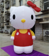 Hot sale giant 3M height inflatable hello kitty for advertising