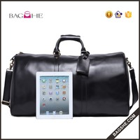 2016 new designer male genuine leather duffle bag