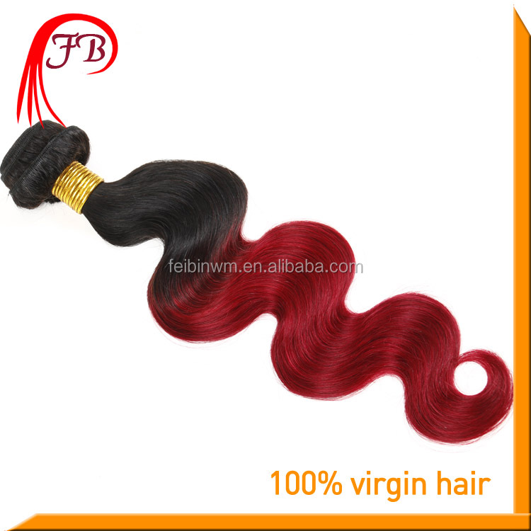 Fashion Style 5A Human Virgin Hair Extension Body Weave 1B/Red Malaysian Remy Human Hair