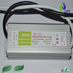 IP67 waterproof 70w led driver with consant current 1.8A 36V with CE&ROHS