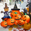 2.1 meters long inflatable pumpkin combination halloween pumpkin party scene layout props