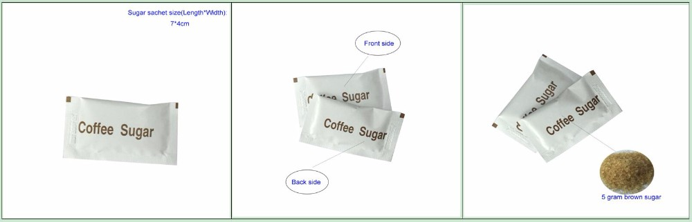 (video show) instant coffee white sugar sachet
