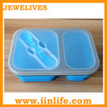 Silicone bento bodybuilding lunch box with dividers