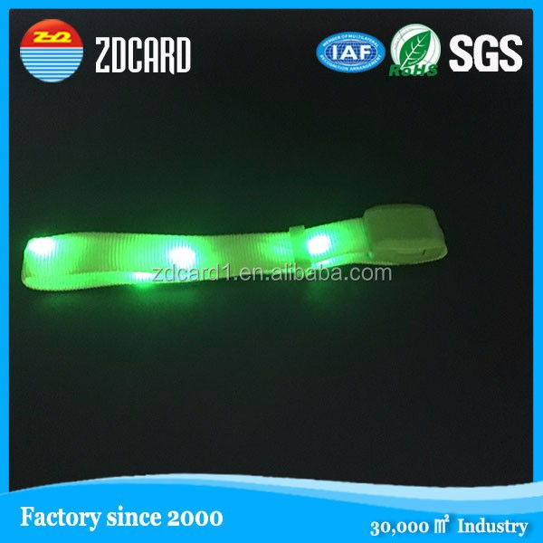 sound voice or system control color flash light customized LED wristbands