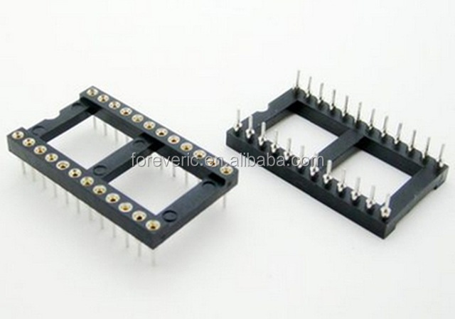 24 Pin Round DIP IC Socket Adapter Wide 24Pin Pitch 2.54mm Connector