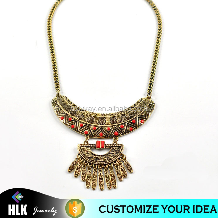 Nepal fashion Long tassel pendant jewelry, 2015 women new design charm pendant necklace , HOT sale jewelry accessory