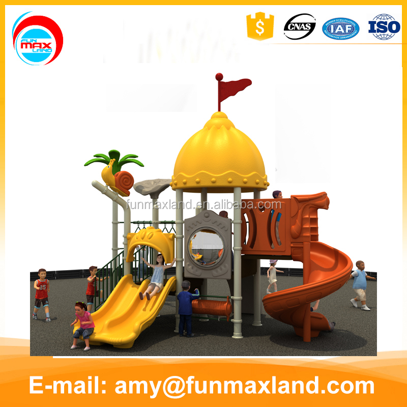 Commercial children outdoor playground playsets facilities with slide