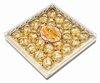 Chocolate compound with peanut wafer candy ball in square box 25PCS G-041