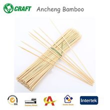 round shape thin bamboo skewers sticks for bbq tool set