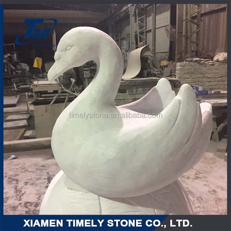 Carved Swan Style Pet Memorial Stones