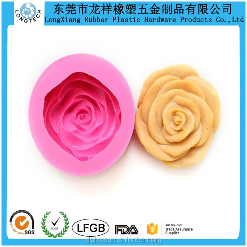 FDA approved food grade rose silicone soap mold/rose shape silicone soap mold