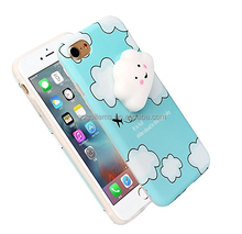 2017 Trending product lovely 3D silicone wallet cell wholesale clear squishy phone soft case maker for iPhone 7