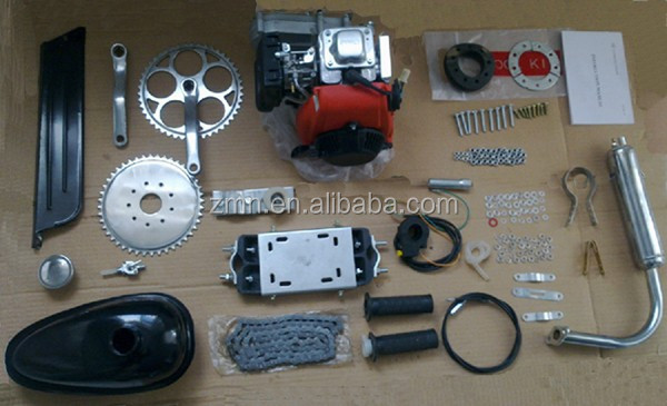 4 Stroke Motor Gas Bicycle bike Engine Motorized Kit Power/ gas moped/gas powered scooter 49cc