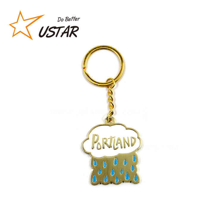 China Custom Wholesales Keychain Factory Design Your Own Keyring Wholesale Promotional Metal Keyring