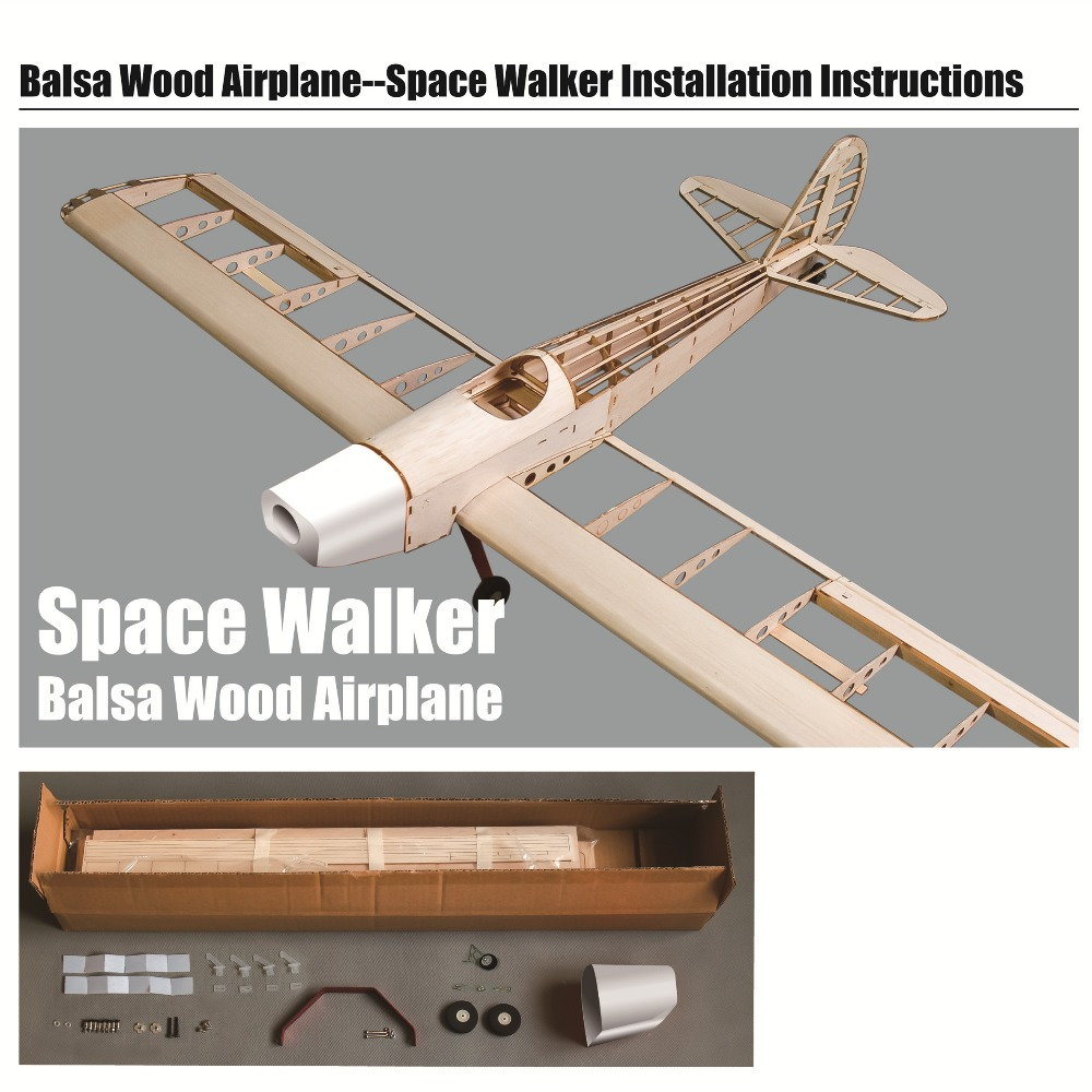 EWSW-01A Space Walker 1230mm Balsa Wood Airplane