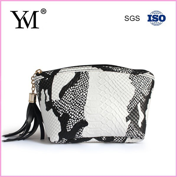 Fashion design snake skin wholesale leather clutch bag