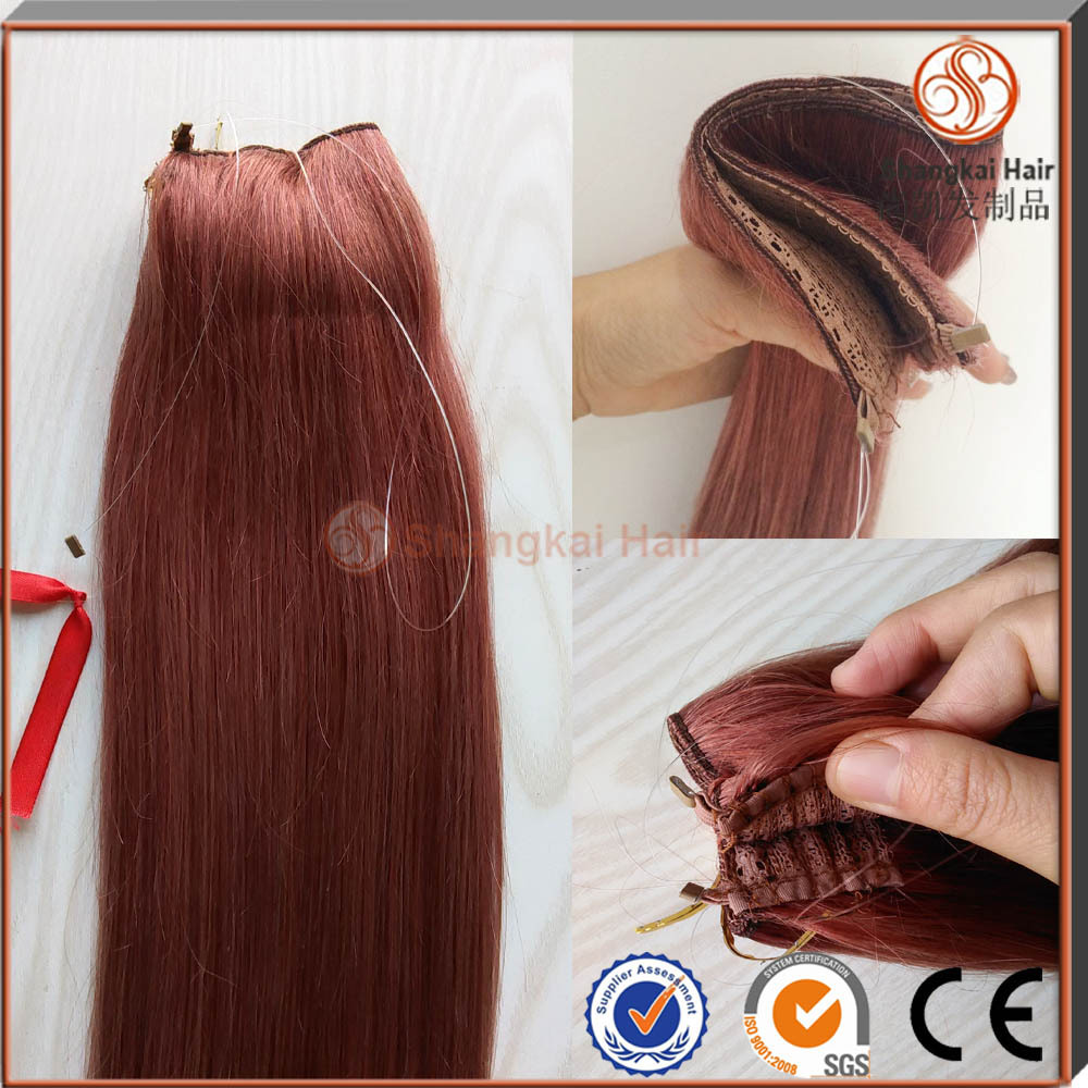 Hot selling colored cheap halo hair hair extensions