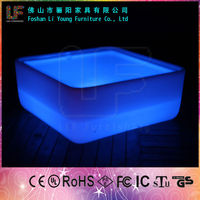 Light Plastic LED Coffee Table,Light Up Furniture Table LGL26-7111-1