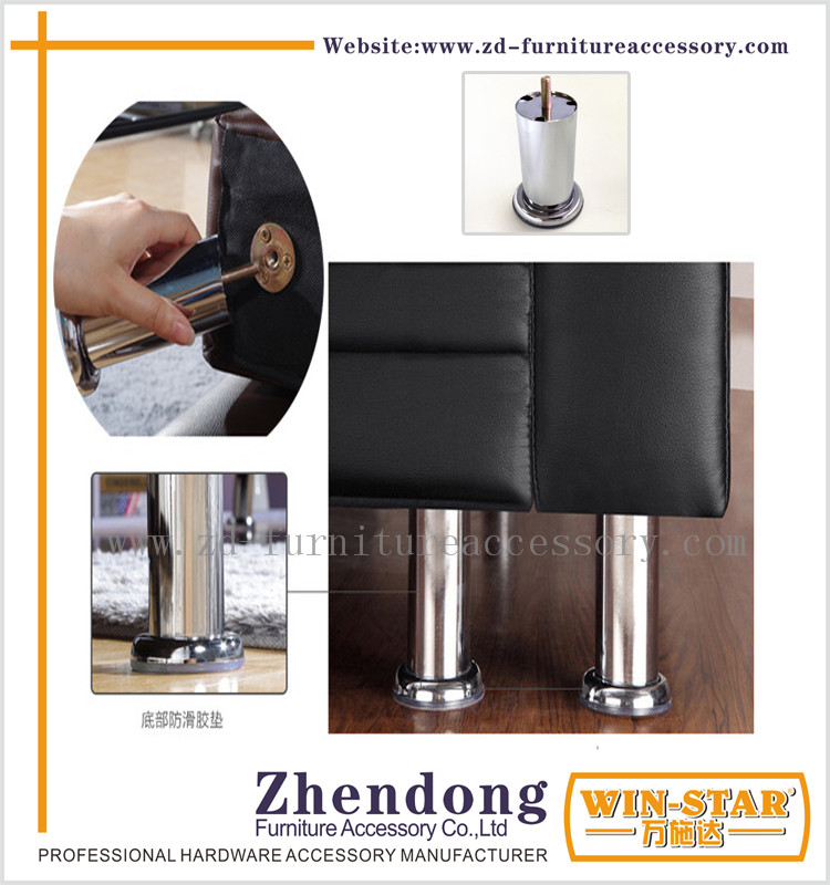 ZD-<strong>A005</strong> The top selling Furniture Long screw metal legs