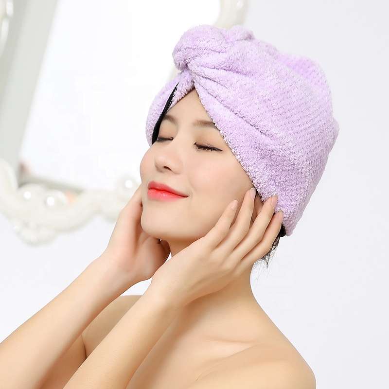 Coral Fleece Cap Long Fast Hair Drying Wrap Microfiber Twist Wet Good Quality <strong>Towel</strong> For Hair Salon