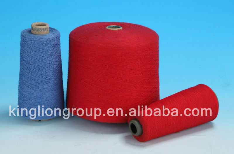 Kinglion colorful polyester cotton carded yarn