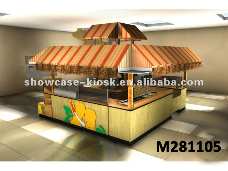 outdoor wooden food kiosk design and build with canopy