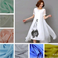 100% polyester linen look fabric women's dress /trousers/fashion tops fabric