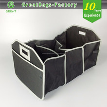 Fully Collapsible and Portable Polycanvas Folding Car Trunk Organizer