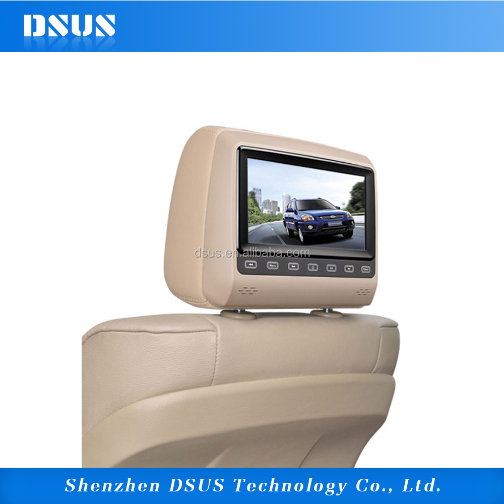 "7"" SD Card/USB Reader Headrest DVD player With Game Pad And Disc"