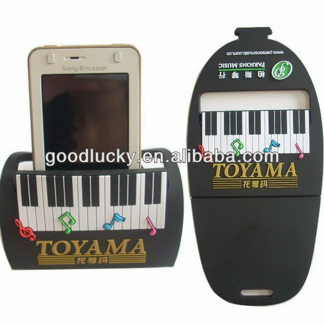 Piano picture soft pvc phone holder