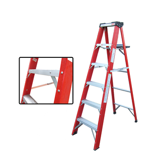 Design Light Weight SafetyA-frame Folding Multipurpose Fibreglass Rating FRP Ladder