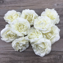 new arrival Hot sale factory directly wholesale in stock Wedding artificial flower ivory rose flower hair clips accessories