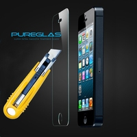 Customized automatic adsorption tempered screen protector for iphone 4 4s glass screen guard film