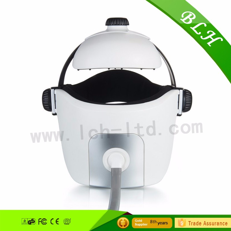 2016 best selling air pressure head massage logo imprint Electric Music Heated kneading head eye massager