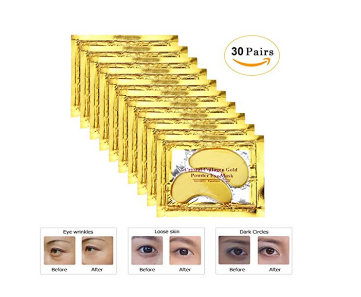 OEM wholesale private Gold Crystal Gel Collagen Hydrating dark circle remove Anti Aging Wrinkle pouches <strong>eye</strong> pads mask