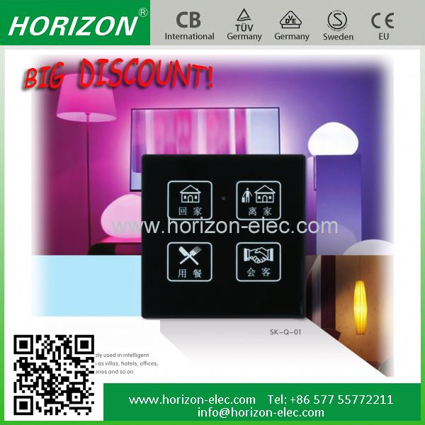 Electrical Touch Screen Glass Panel Home touch screen switch board