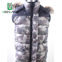 2016Fashion Reversible Camouflage Vest&Gilets Printing Warm Winter Vests For Male