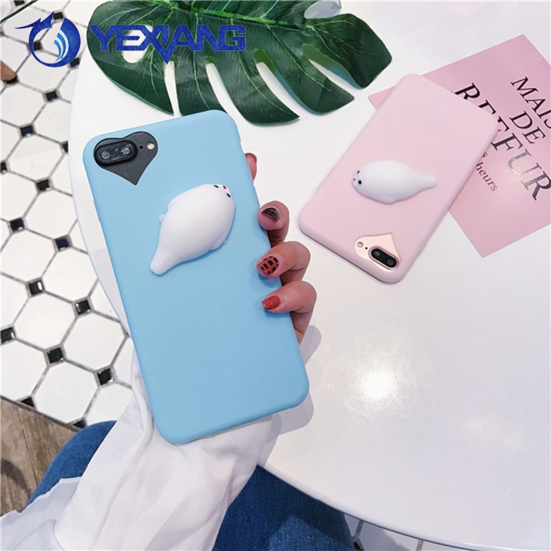 Squishy Finger Pinch Sea lions 3D Mobile Phone Case for iPhone 5