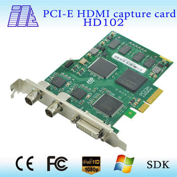 high quality simultaneously capture supports SD/HD/3G-SDI capture card