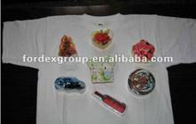 100% Cotton Compressed T-Shirt With Logo Printing,promotional custom shape compressed t shirts