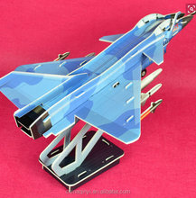 3D aircraft puzzle Hot selling diy educational puzzlee