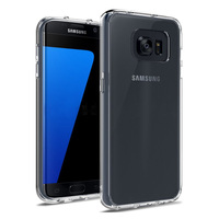 C&T Slim Clear Back Case / Cover with soft TPU Bumper for Samsung Galaxy S7