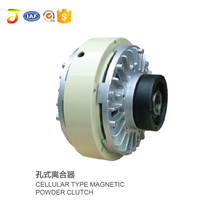 Double shaft type magnetic powder clutch for printing machines