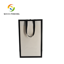 Retail china supplier print logo tyvek paper bag with black handle
